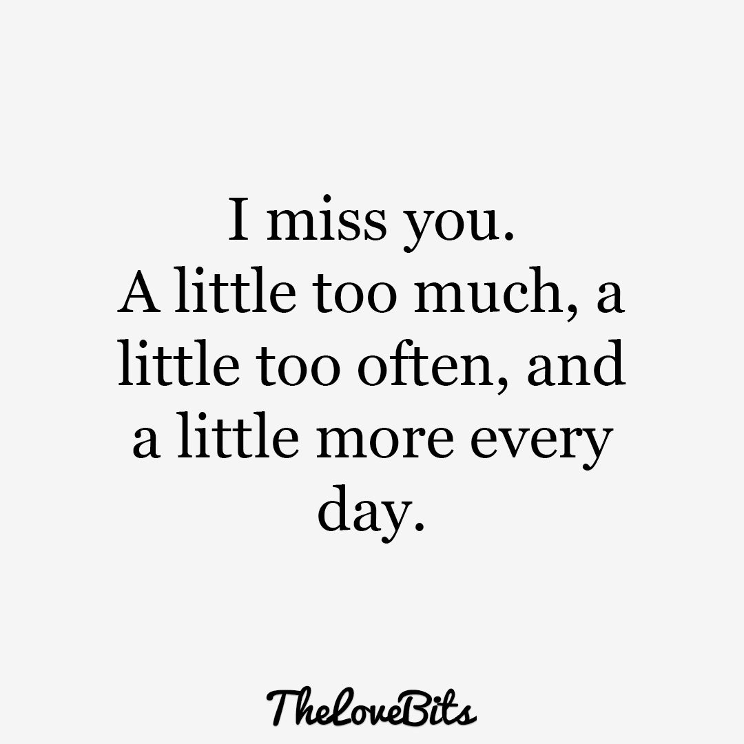 50 cute missing you quotes to express your feelings